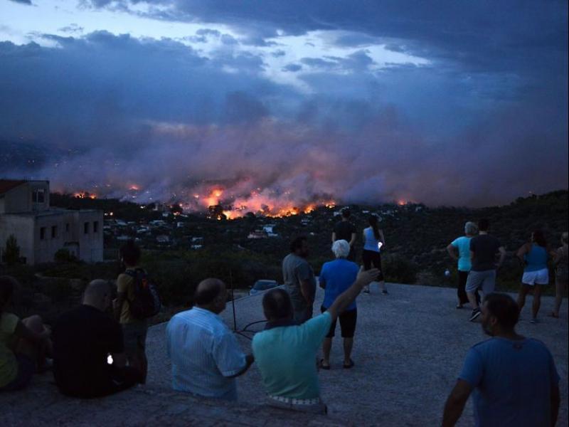 Близо 50 души са жертвите на пожарите край Атина