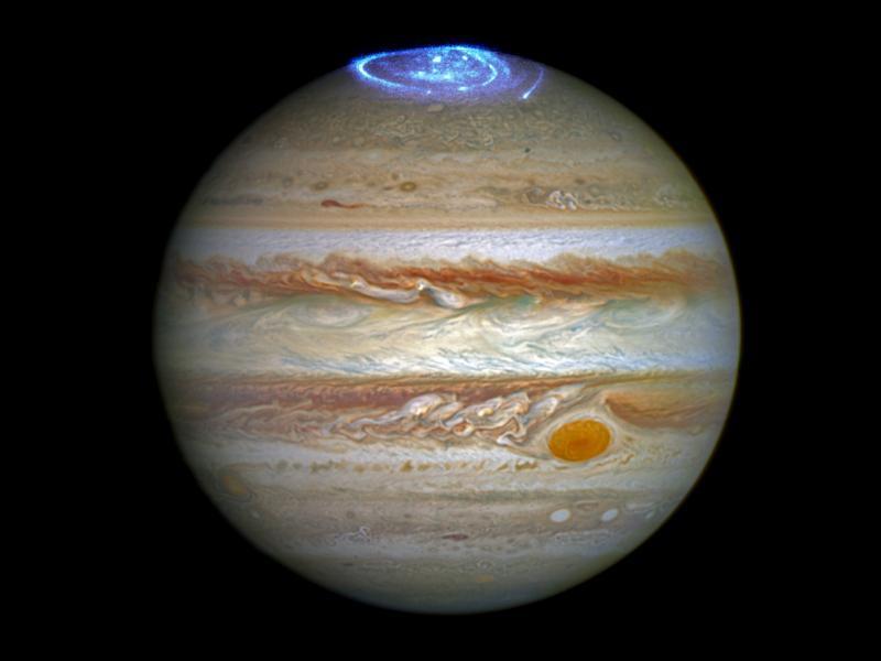 Необичайни следи на Йо и Ганимед в полярното сияние на Юпитер - картинка 1