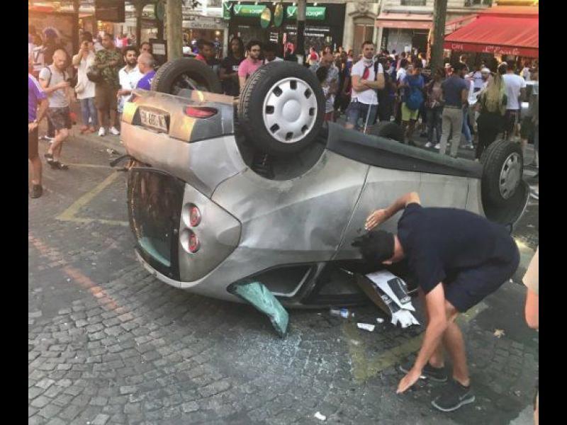 Инциденти във Франция след победата на Световното (видео)