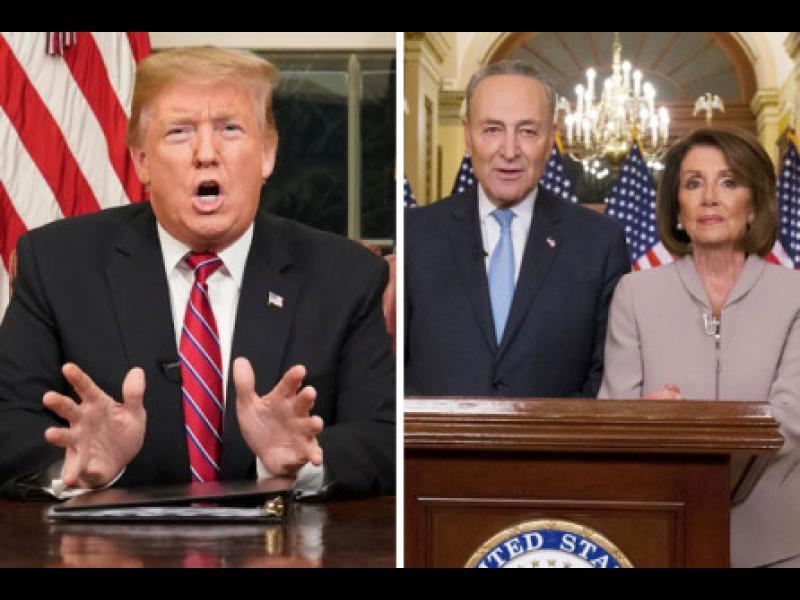 Тръмп напусна гневен среща с демократите, отказаха му пари за стената с Мексико - картинка 1