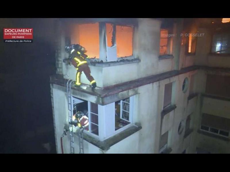 Най-малко осем души загинаха при пожар в сграда в Париж
