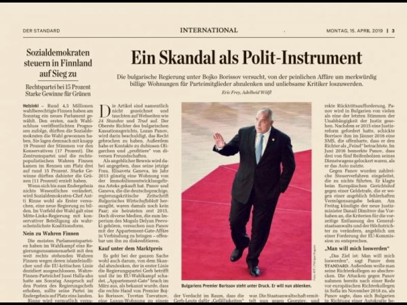 Der Standard: Как Борисов се възползва от аферата с апартаментите - картинка 1