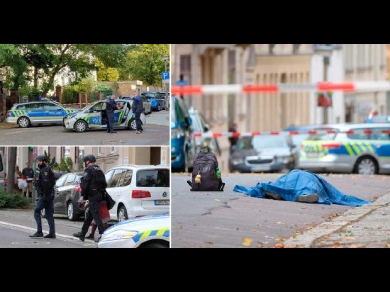 Двама убити при стрелба с автомат до синагога в германския град Хале - картинка 1