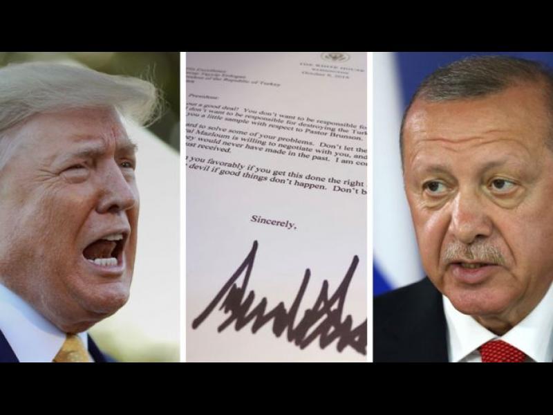 Тръмп писал на Ердоган: Не бъдете глупак