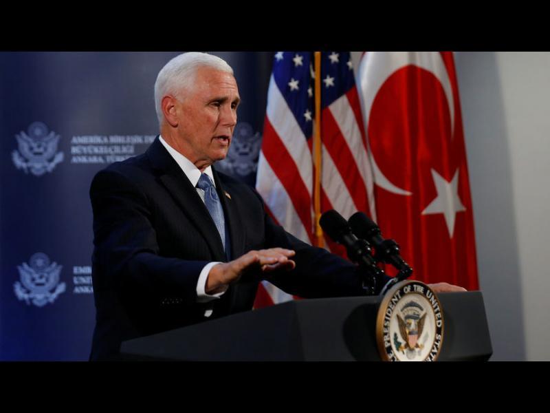 Майк Пенс: В Сирия започва примирие, кюрдксите бойци ще се оттеглят от границата