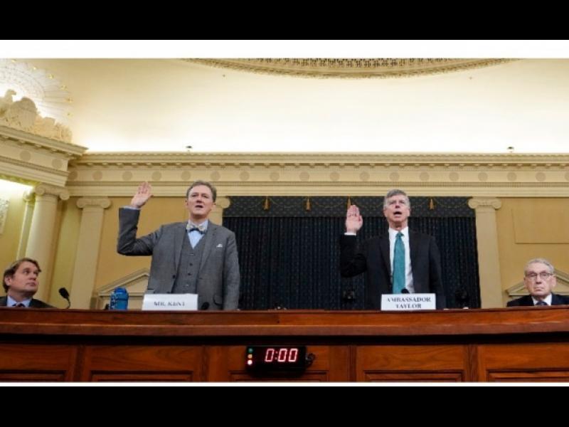 Публичните изслушвания по процеса за импийчмънт на Тръмп започнаха с разкрития