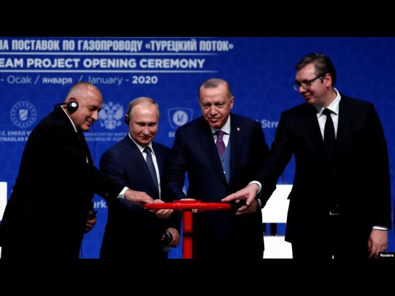 """Путин, Ердоган, Борисов и Вучич откриха """"Турски поток"""" в Истанбул"""