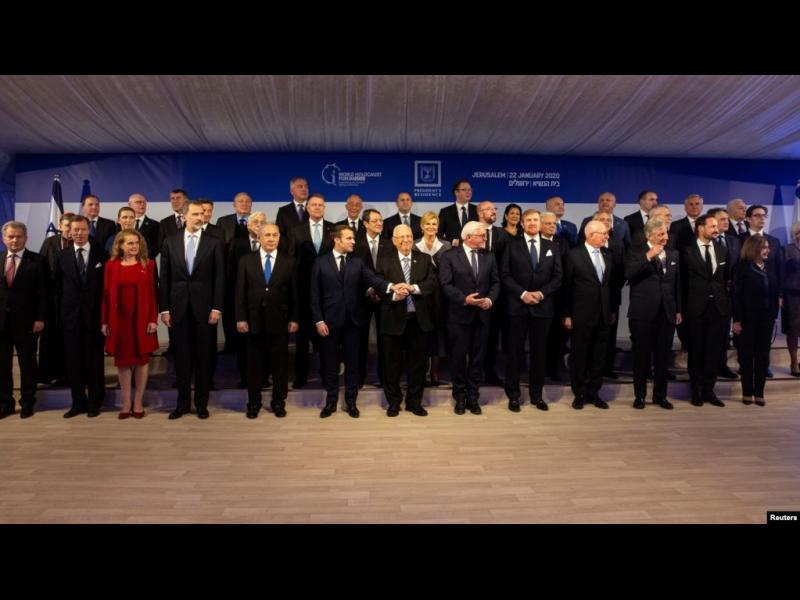 """Световните лидери отбелязаха 75 години от освобождаването на концлагера """"Аушвиц"""" в Израел"""