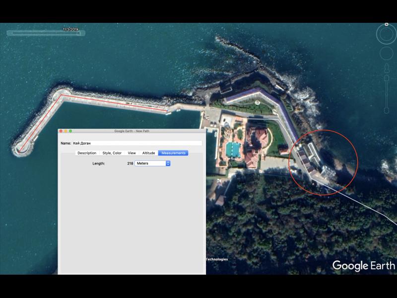 Доган си построи тайно и 230 метров вълнолом в морето край сарая