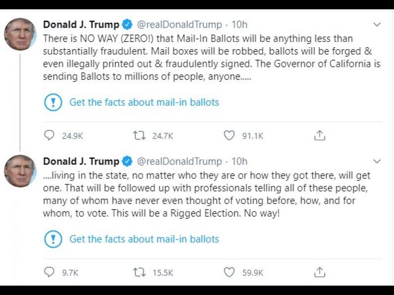 За пръв път Twitter предупреди, че Тръмп пуска неверни твърдения
