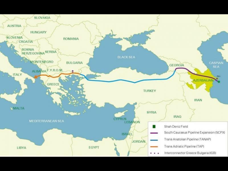 Азерският газ ще влиза през Кулата, не по междусистемната връзка с Гърция