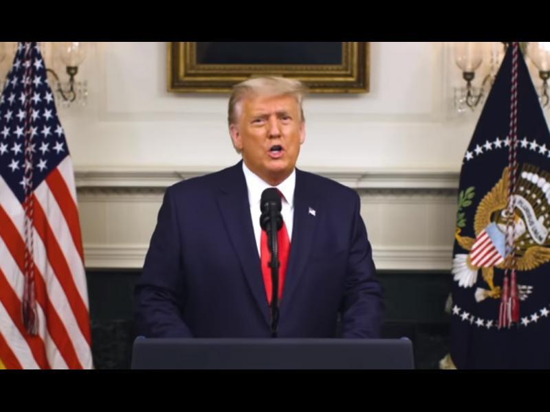 46 минути Тръмп: Наблюдаваме дирижирана кампания за миропомазване на победител