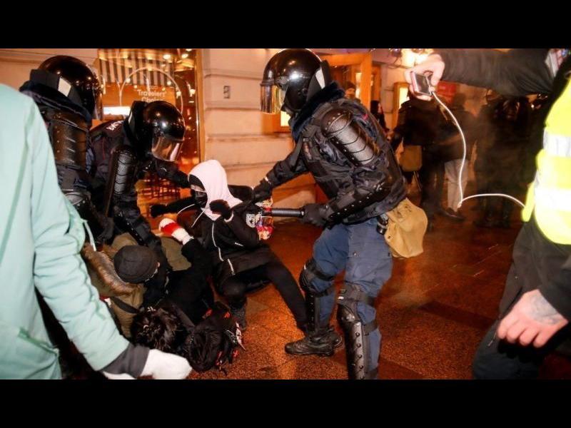 Над 1400 души са задържани след протестите в защита на Навални в Русия