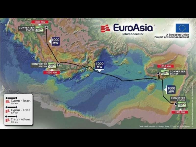 Кипър, Гърция и Израел свързват електрическите си мрежи